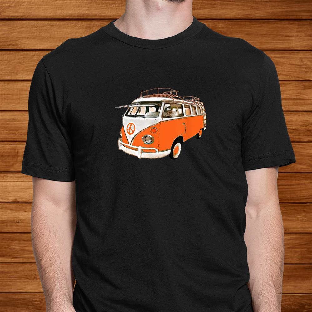 Vintage German Camper Van Micro Bus Surfer Van Retro Hippie Shirt