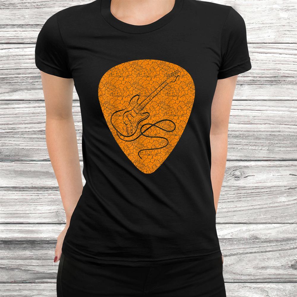 Vintage Guitar Pick Guitarist Love Music Shirt