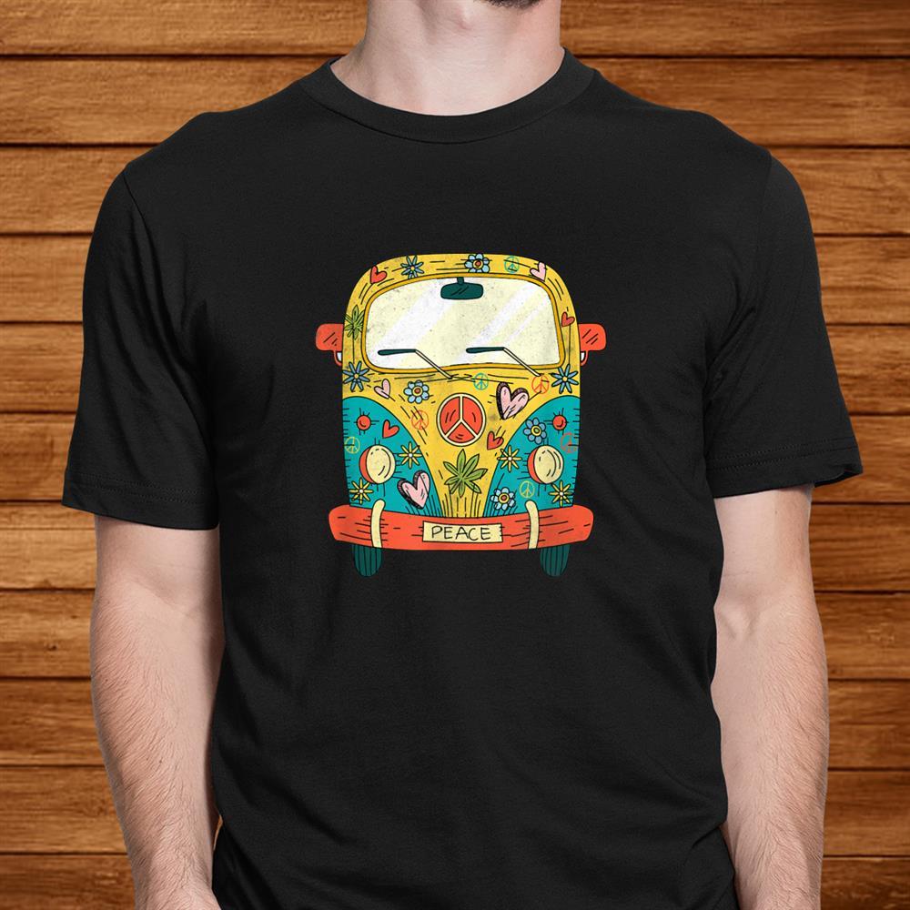 Vintage Hippie Bus Shirt Van Road Trip Shirt