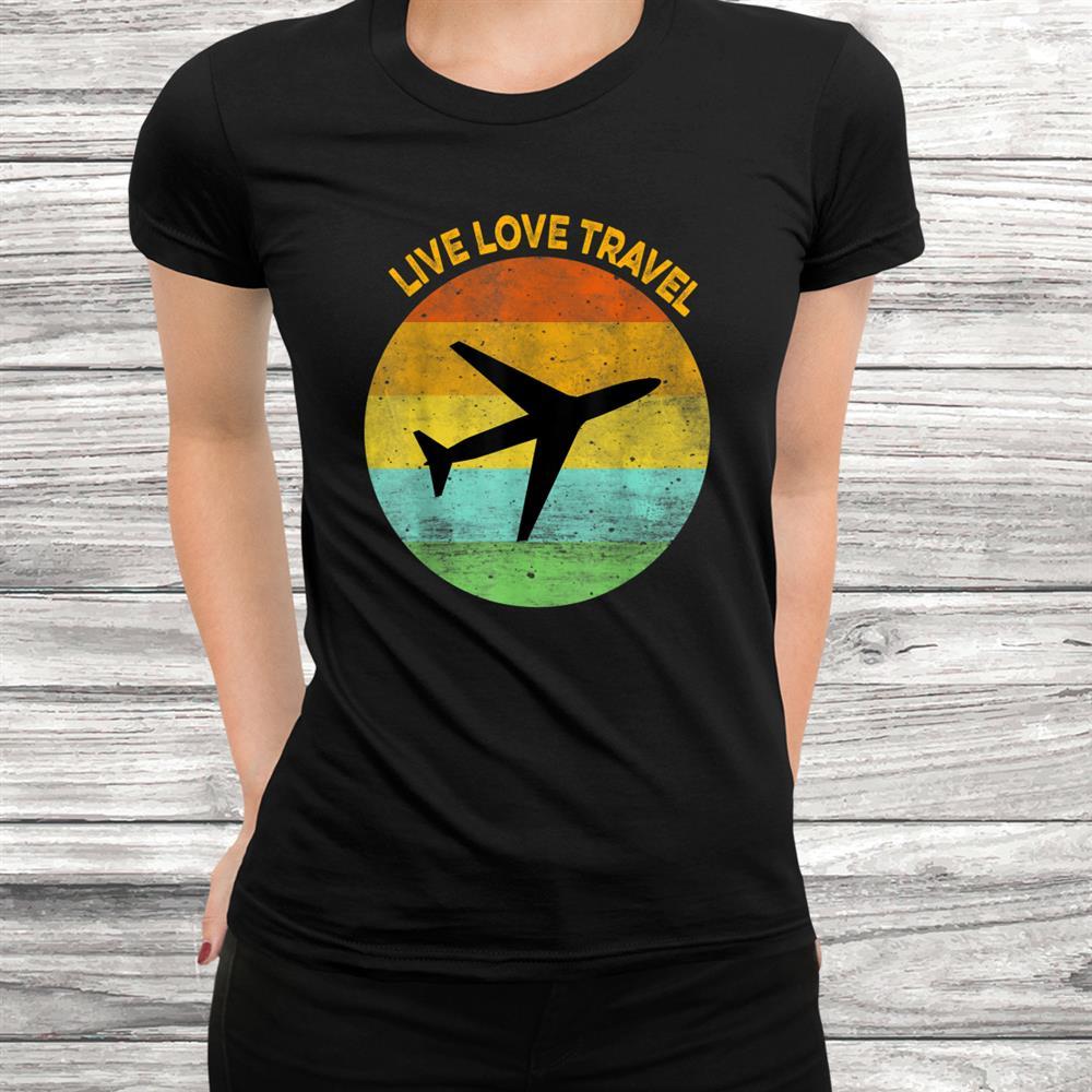 Vintage Look Travel Lover T-Shirt For World Traveler Shirt