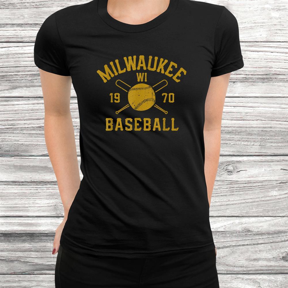 Vintage Milwaukee Baseball Wisconsin Brewer Retro Shirt