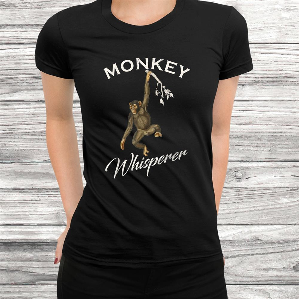 Vintage Monkey Whisperer Gift Baboon Animals Lover Funny Shirt