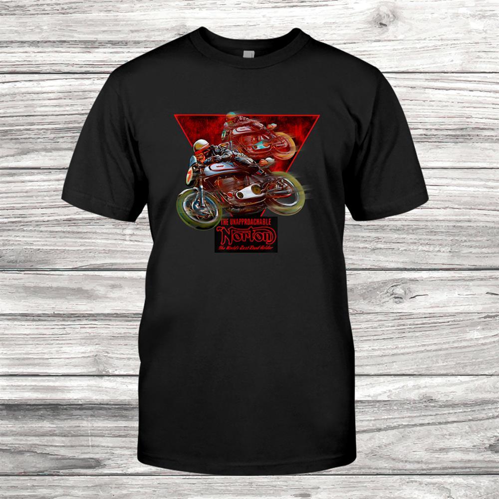 Vintage Norton Manx Motorcycle Racers Shirt