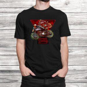 vintage norton manx motorcycle racers t shirt Black 2