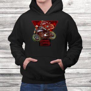 vintage norton manx motorcycle racers t shirt Black 4