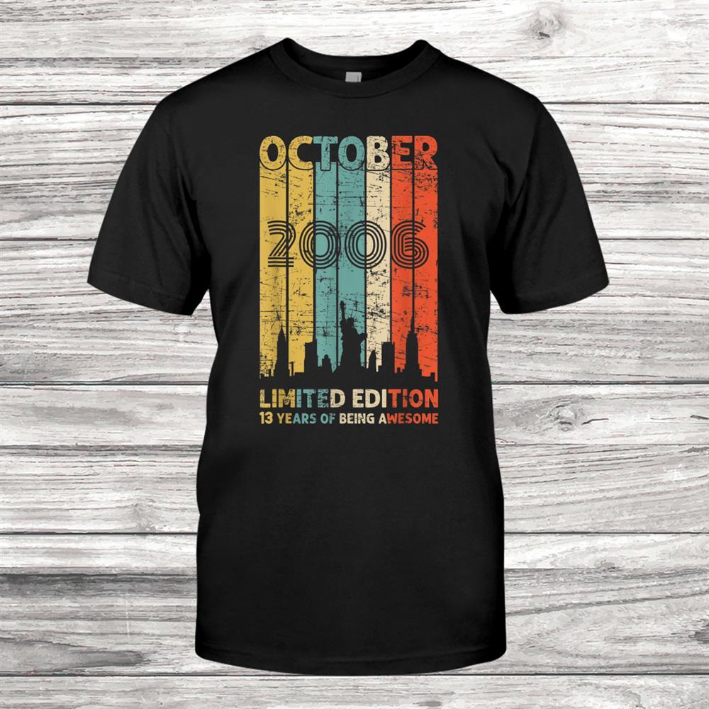 Vintage October006 Shirt3 Years Old006 Birthday Shirt
