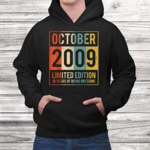 vintage october 2009 10 years old shirt 10th gift women men Black 4