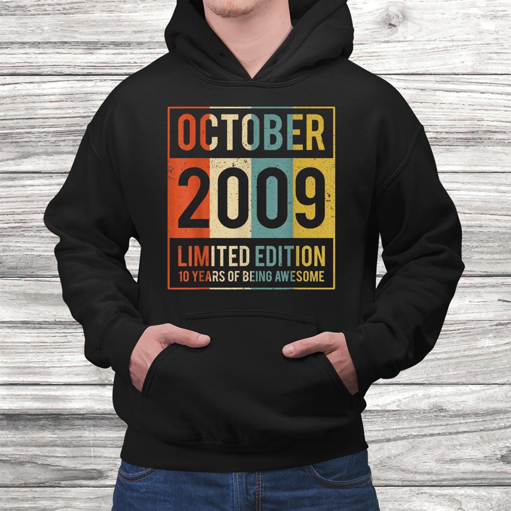 Vintage October0090 Years Old Shirt0th Gift Women Men Black