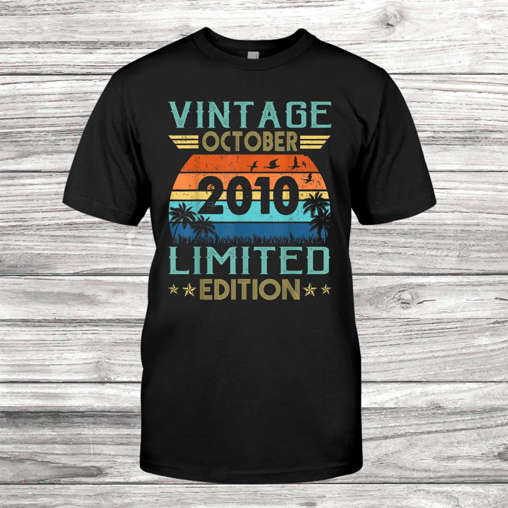Vintage October010 Gifts 9th Birthday Shirt