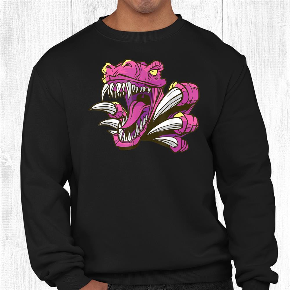 Vintage Pink Dinosaur Retro Pink Dinosaur Funny Shirt