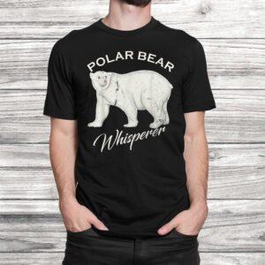vintage polar bear whisperer gift wild animals lover funny t shirt Black 2