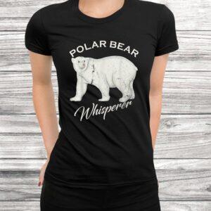 vintage polar bear whisperer gift wild animals lover funny t shirt Black 3