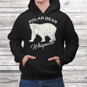vintage polar bear whisperer gift wild animals lover funny t shirt Black 4