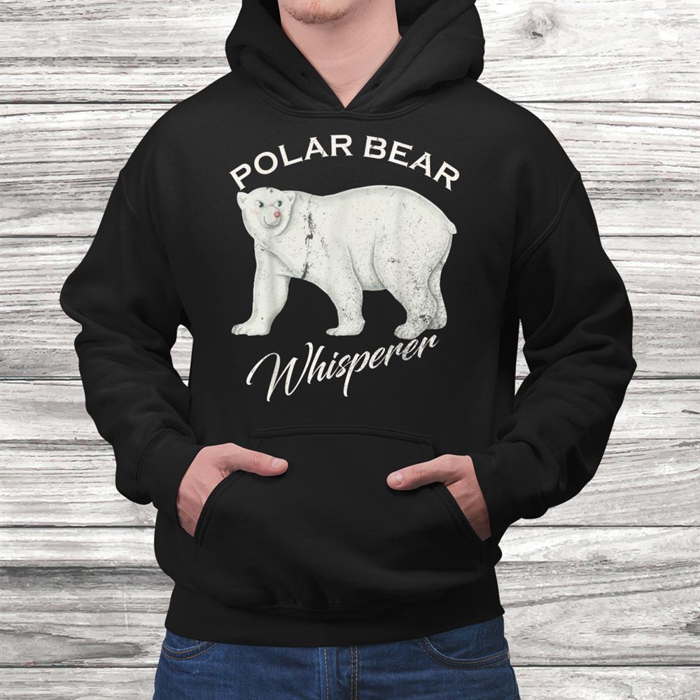Vintage Polar Bear Whisperer Gift Wild Animals Lover Funny Shirt