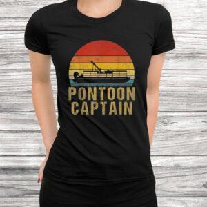 vintage pontoon captain shirt funny pontoon boat gift t shirt Black 3