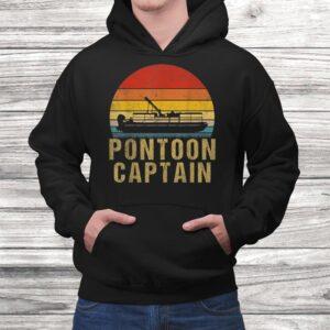 vintage pontoon captain shirt funny pontoon boat gift t shirt Black 4