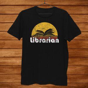 Vintage Reading Book Librarian Retro Sunset Shirt
