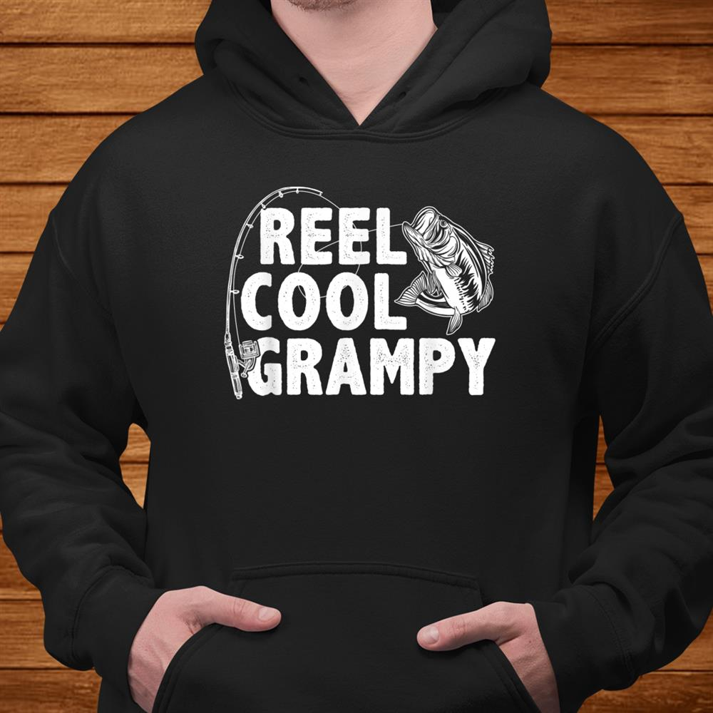 Vintage Reel Cool Grampy Loves Fishing Shirt