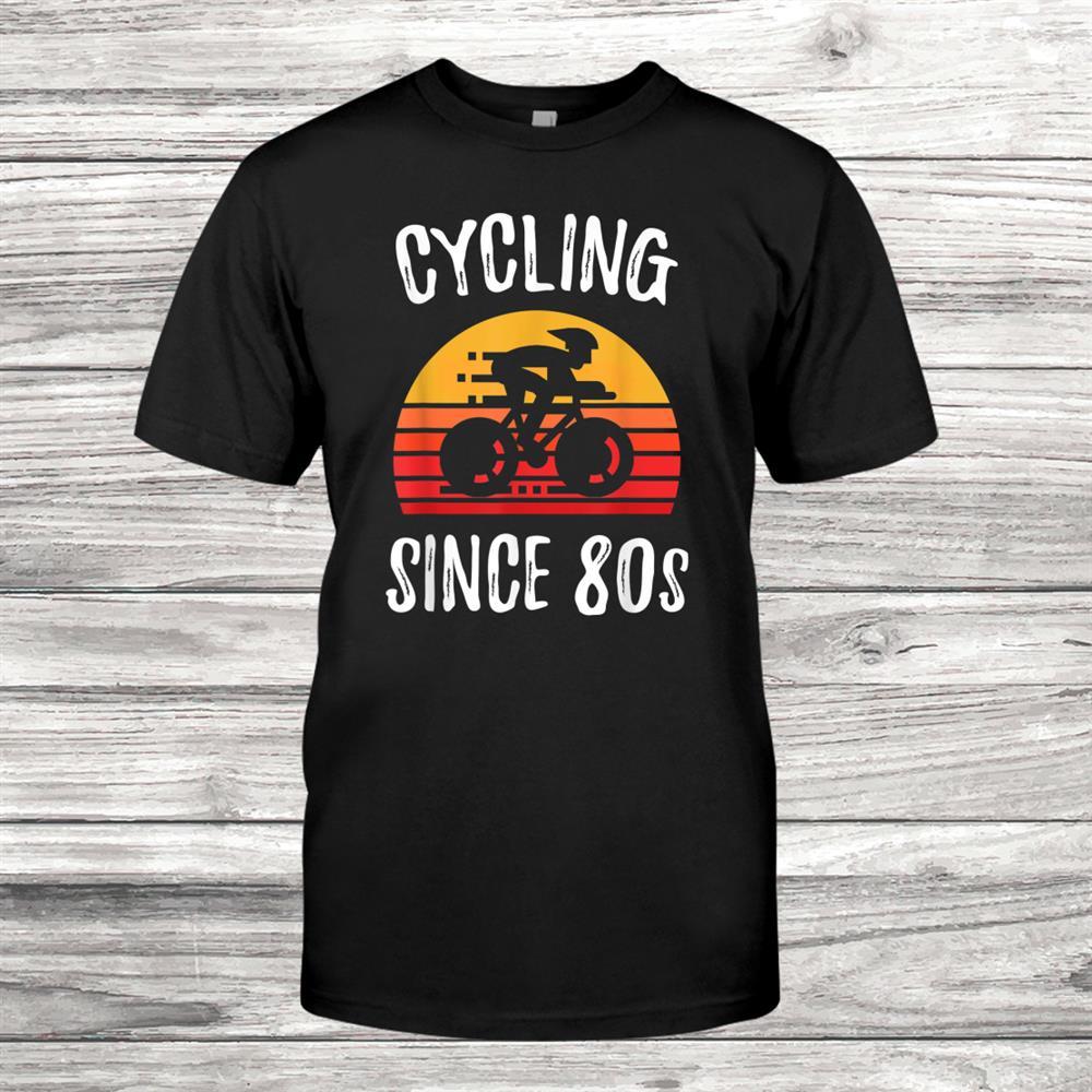 Vintage Retro Bicycle Cycling Since0s Biking Cyclist Shirt
