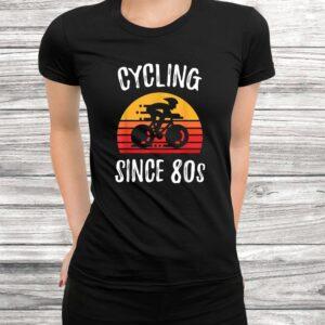 vintage retro bicycle cycling since 80s biking cyclist gift t shirt Black 3