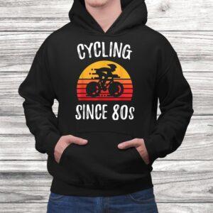 vintage retro bicycle cycling since 80s biking cyclist gift t shirt Black 4
