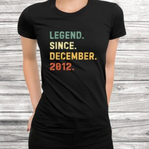 vintage retro birthday 7th december 2012 gifts 7 years old t shirt Black 3