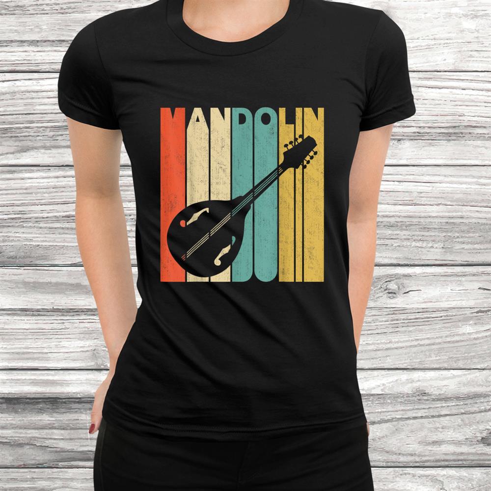 Vintage Retro Mandolin Silhouette Shirt