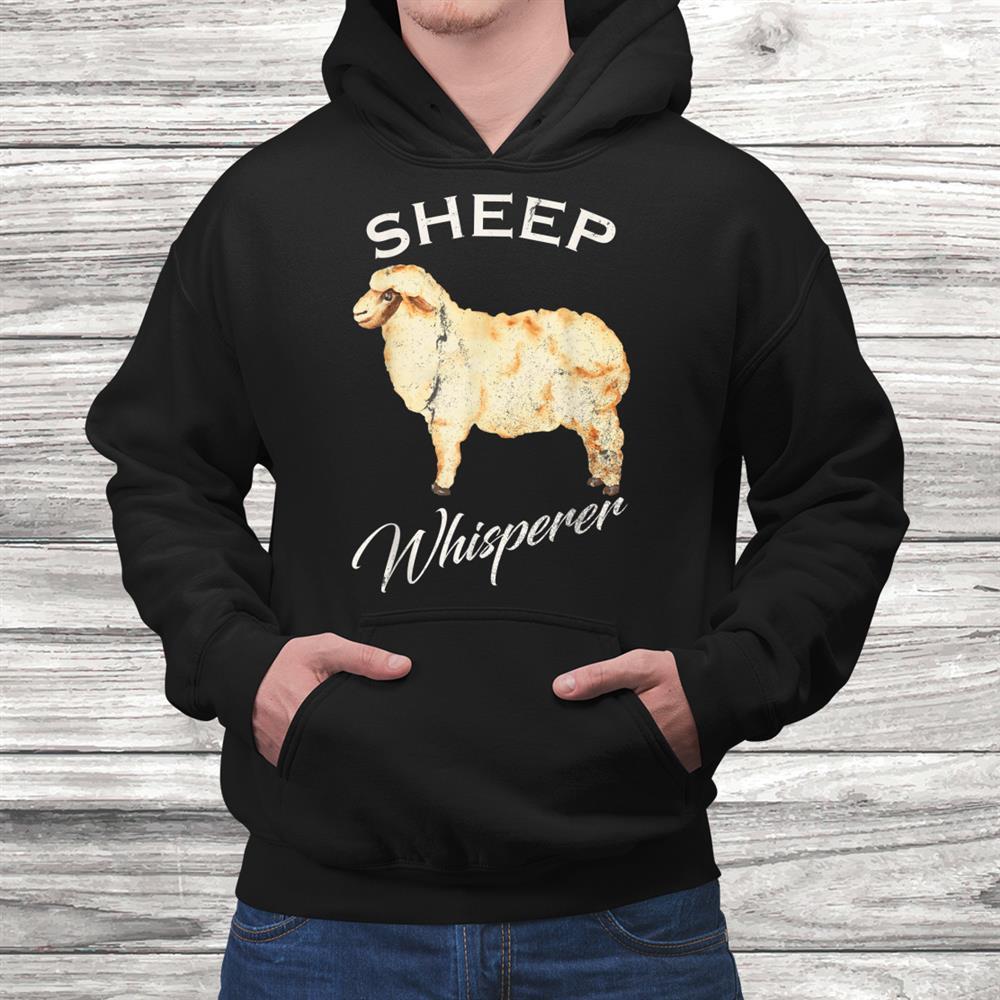 Vintage Sheep Whisperer Gift Sheep Farming Farmer Funny Shirt