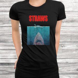 vintage skip a straw save a turtle gift shirt save turtle t shirt Black 3