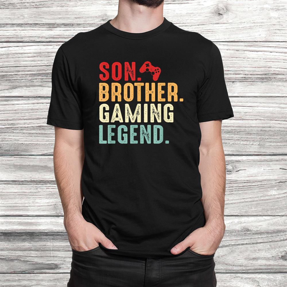 Vintage Son Brother Gaming Legend Costume Gamer Shirt