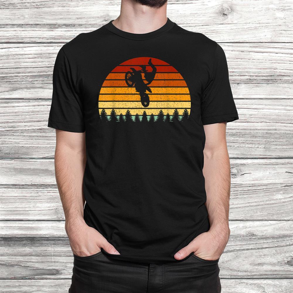 Vintage Sunset Motocross Gift For Bikersand & Motocross Racers Shirt