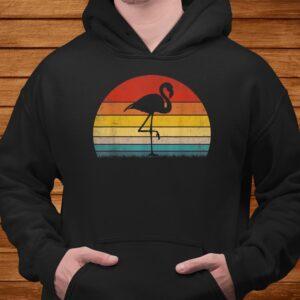 vintage sunset trendy animal silhouette flamingo t shirt Men 4