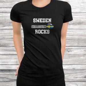 vintage sweden rocks curling swedish curlers gift t shirt Black 3