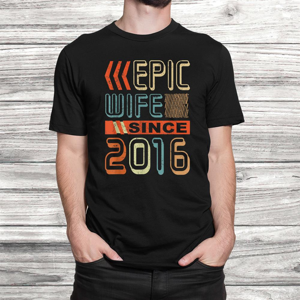 Vintage Tee Epic Wife Since016 Wedding Anniversary Shirt
