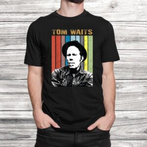 vintage tom t shirt waits country music gift for mens women t shirt Black 2