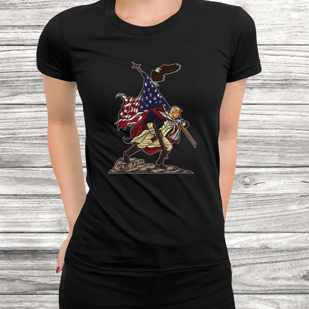 Vintage Trump Carries The Flag Of The United States Usa Shirt