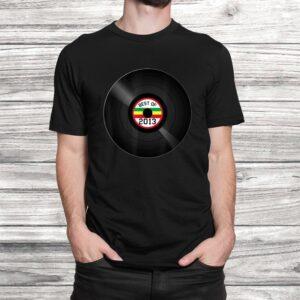vinyl record best of 2013 retro vintage birthday gift t shirt Black 2