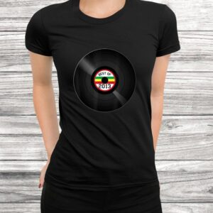 vinyl record best of 2013 retro vintage birthday gift t shirt Black 3
