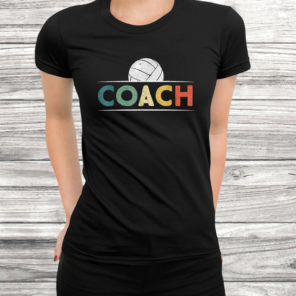 Volleyball Coach Gifts Funny Retro Vintage Ball Coaching Shirt