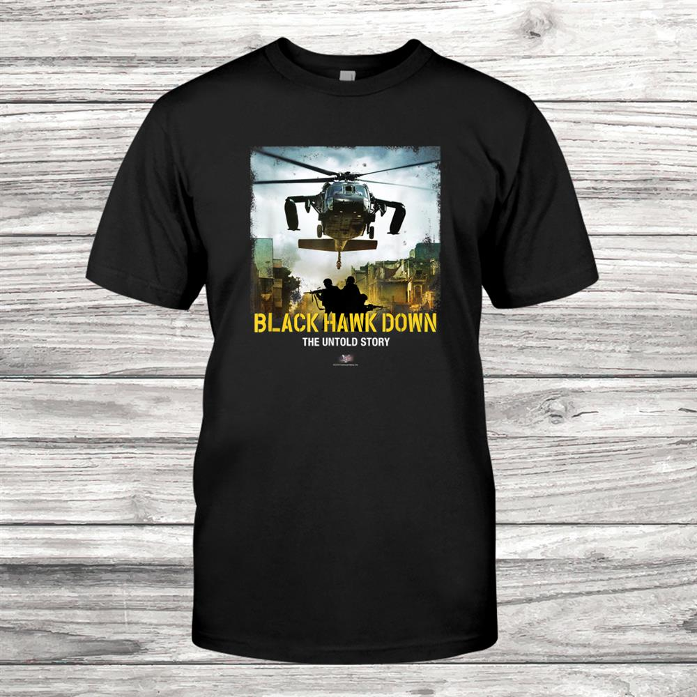 Vtv Black Hawk Down The Untold Story Arrival Logo Shirt