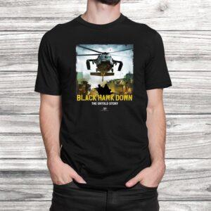 vtv black hawk down the untold story arrival logo t shirt Black 2