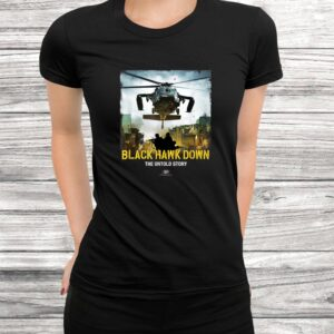 vtv black hawk down the untold story arrival logo t shirt Black 3