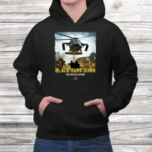 vtv black hawk down the untold story arrival logo t shirt Black 4