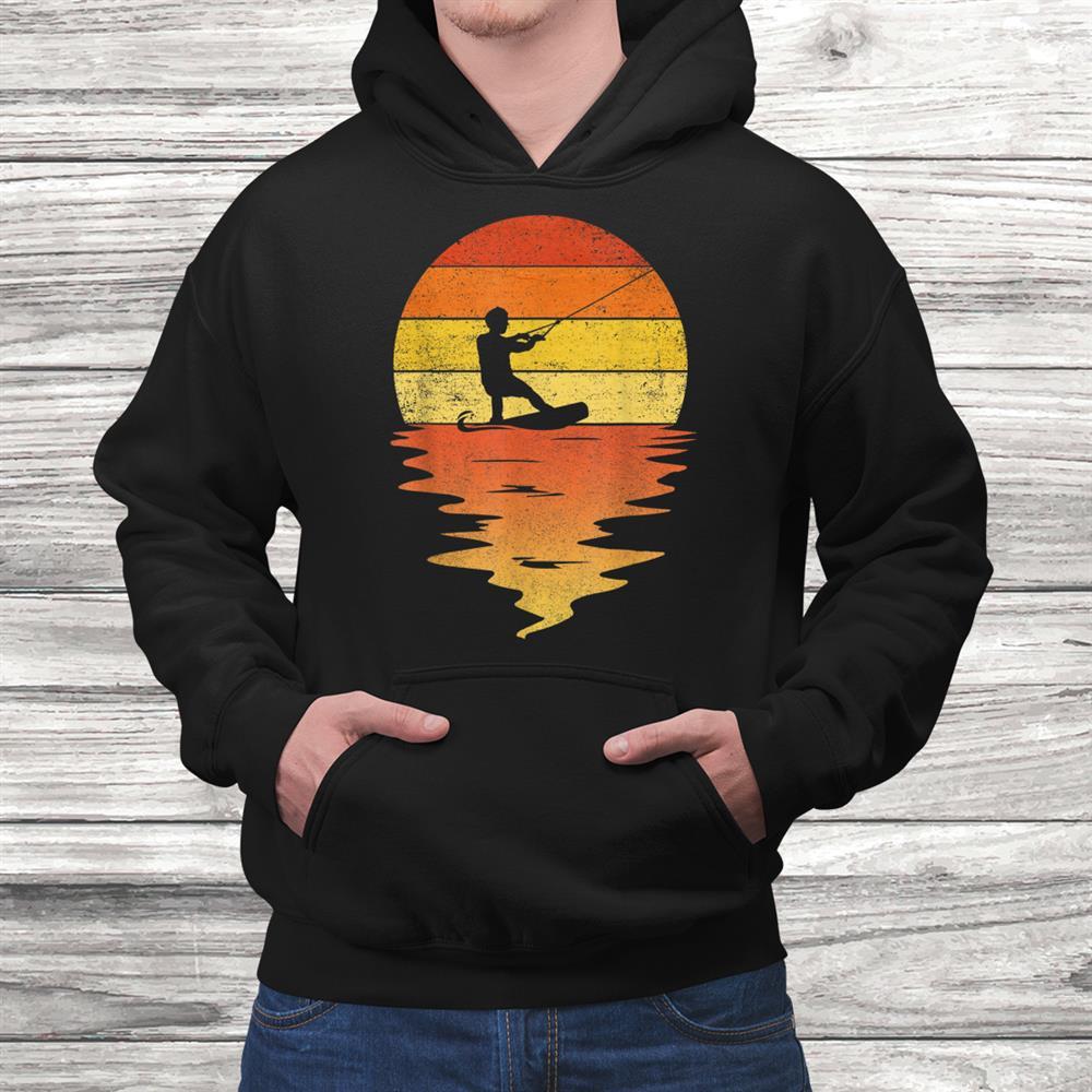 Wakeboarding Shirt Retro Sunset0s Vintage Wakeboarding Shirt
