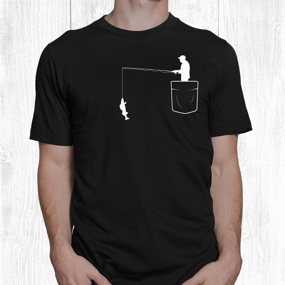 Walleye Fishing In Pocket Vintage Art Funny Fisherman Shirt