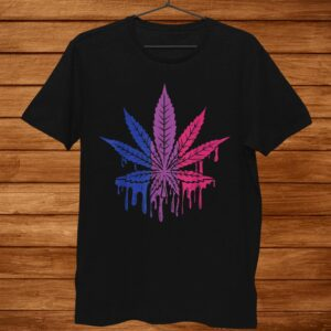 Weed Paint Drip Funny Art Lgbt Bisexual Color Gay Flag Shirt