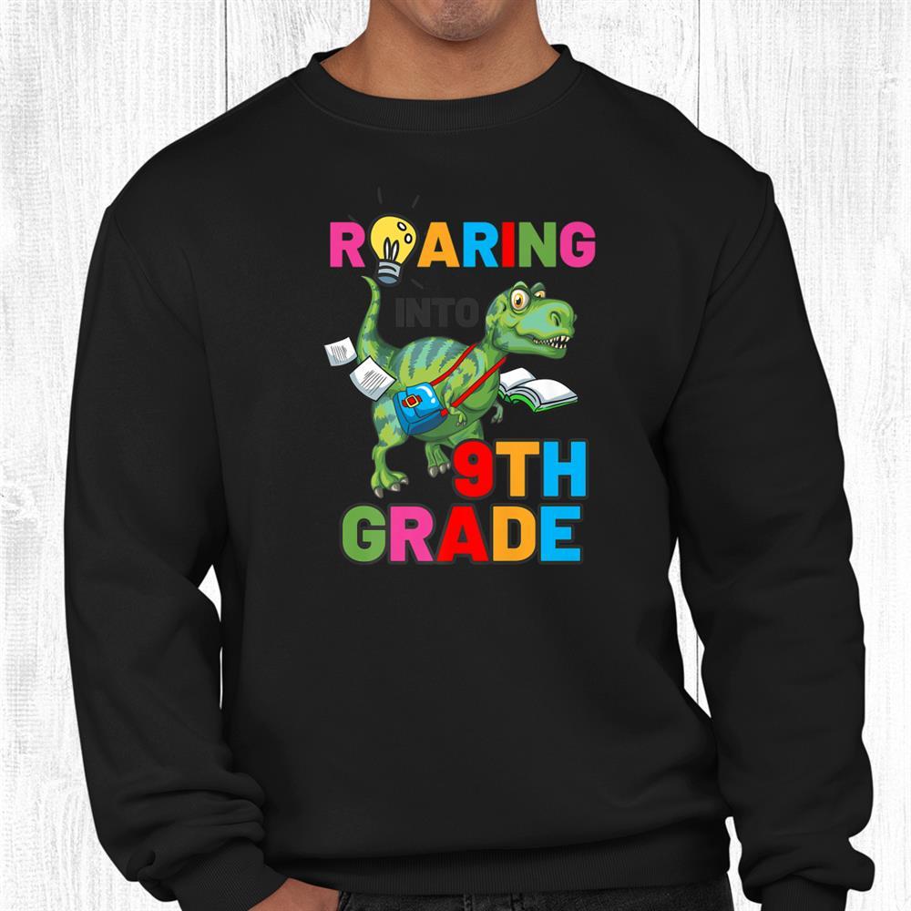 Welcome Back To School Cute Dinosaur 9th Grade Shirt
