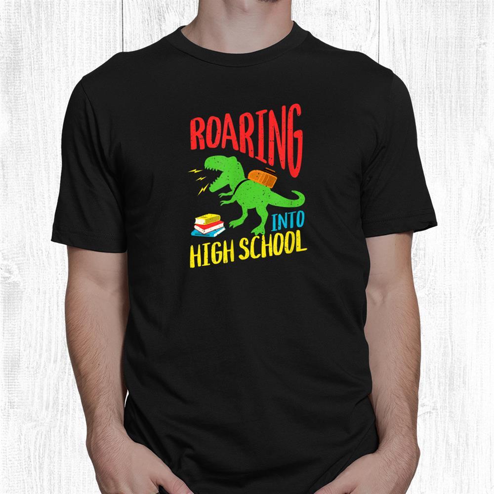 Welcome Back To School Cute Dinosaur High School Shirt