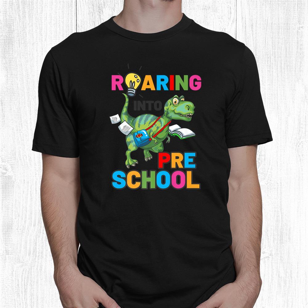 Welcome Back To School Cute Dinosaur Preschool Shirt