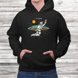 well that sucks i flat earth planet astrology astronaut t shirt Black 4
